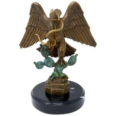Mexico National Emblem Bronze Eagle Signed Carlos Espino Limited Edition