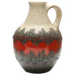 Vintage Vessel Fat Lava Made by Bay W-Germany in Excellent Condition, 1950s
