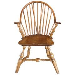 Amerikanischer Windsor-Stuhl mit gedrechselten Beinen, Spätes 18. Jahrhundert