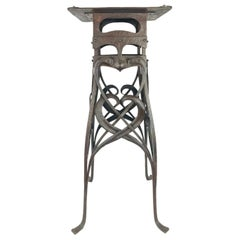 Art Nouveau Handwrought Iron and Steel Table Hermann Obrist
