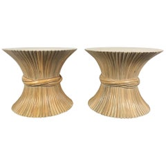 Pair of Modernist Sheaf Bamboo Tables by John and Elinor McGuire