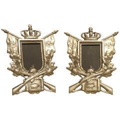 Pair of Small Antique Cast Metal Picture Frames from Germany, circa 1900