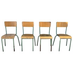1930s French Jean Prouvé Style School Chairs