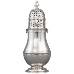 Large Britannia Silver Queen Anne Sugar Caster, London 1706/7