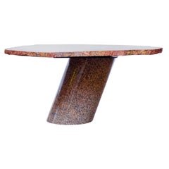Petrified Wood Table Top with Married Granite Base