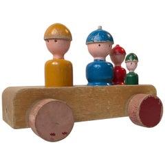 Kay Bojesen Beech Toy Wagon 'a Family Trip', 1950s, Denmark
