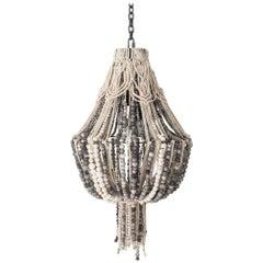 Klaylife Handmade Clay Beaded Macrame Chandelier or Hanging Light, 21st Century