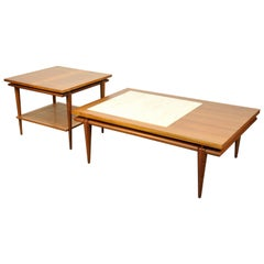 John Widdicomb Mid-Century Coffee and Side Table Set