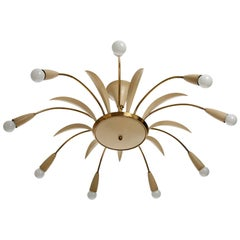 Brass Spider Light Fixture, Italy, 1960