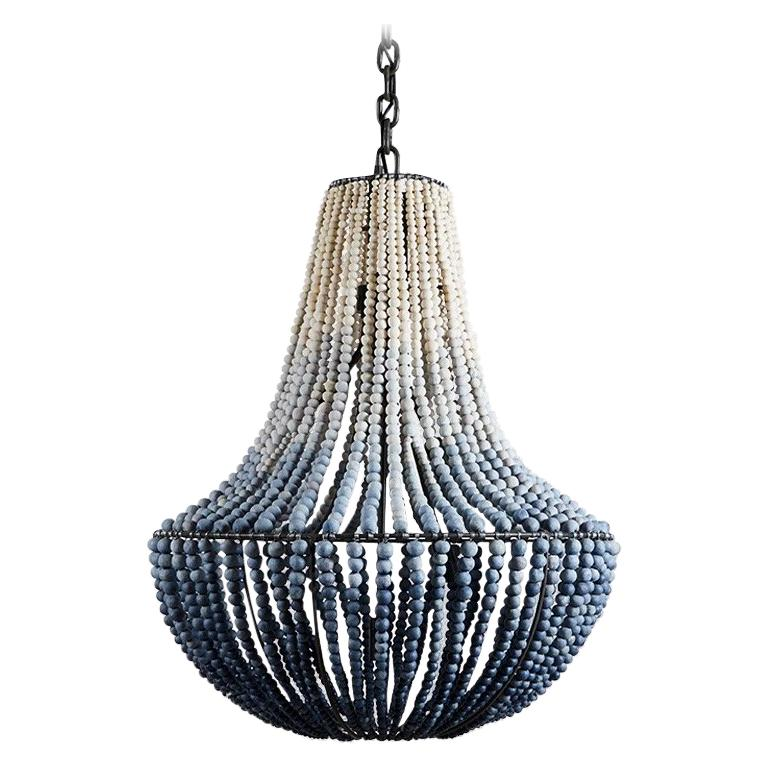 Klaylife, Lim Ink Ombre, Large, Handmade Clay Beaded Chandelier For Sale