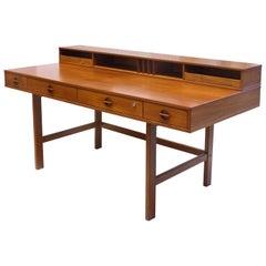 Danish Modern Flip-Top Teak Desk by Jens Quistgaard for Peter Løvig Nielsen