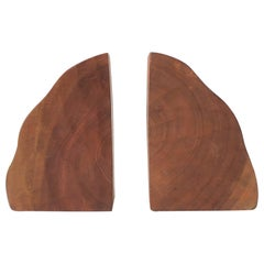 Pair of Natural Wood Bookends