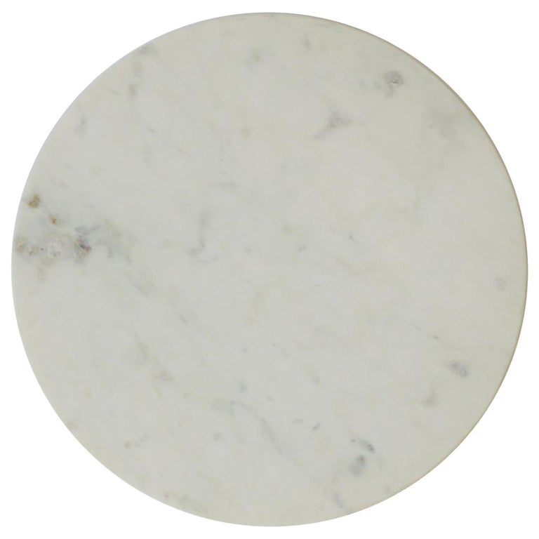 Round White Marble Trivet or Tray For Sale