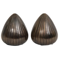 Ben Seibel Gunmetal Bronze Orb Bookends