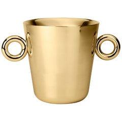 Ghidini 1961 Double O Ice Bucket in Stainless Steel by Richard Hutten