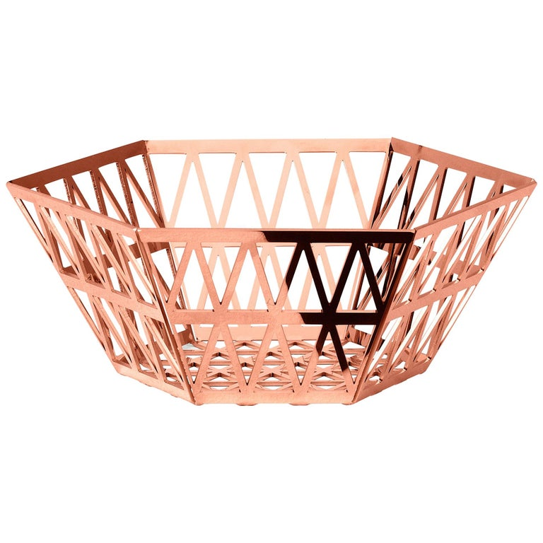 Ghidini 1961 Tip Top Tall Tray in Rose Gold by Richard Hutten For Sale