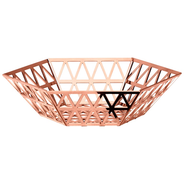 Ghidini 1961 Tip Top Tray Medium in Rose Gold by Richard Hutten For Sale