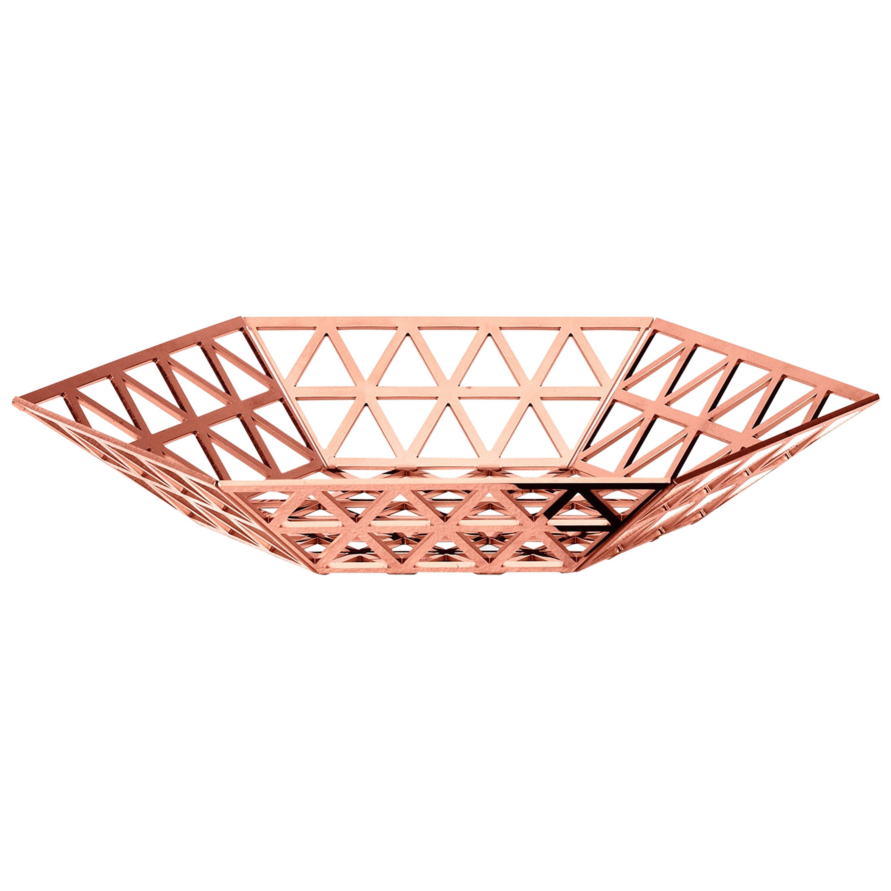 Ghidini 1961 Tip Top Flat Tray in Rose Gold by Richard Hutten