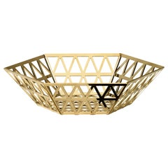 Ghidini 1961 Tip Top Tray Medium in Gold by Richard Hutten
