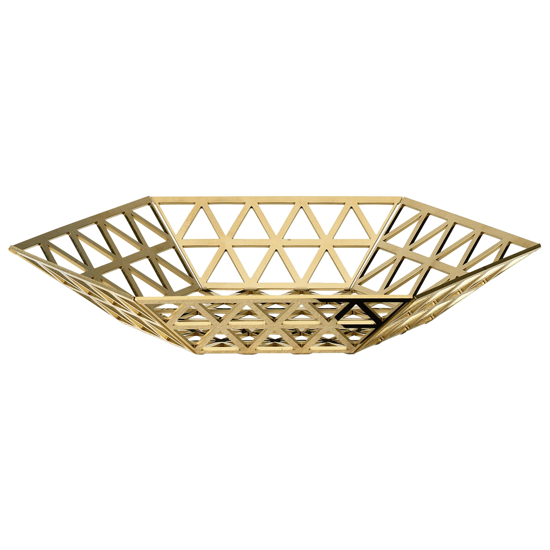 Ghidini 1961 Tip Top Flat Tray in Gold by Richard Hutten