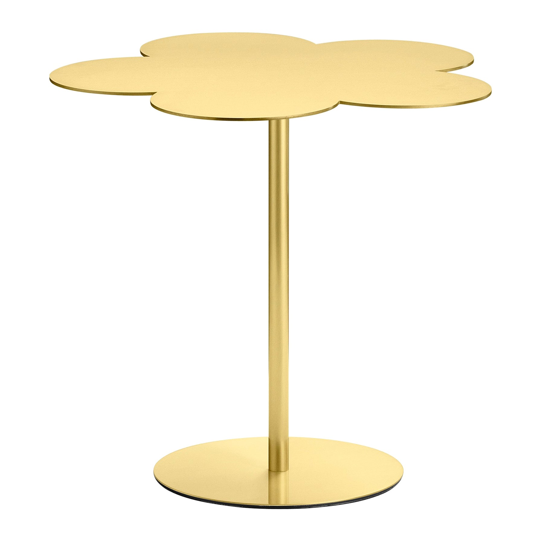 Ghidini 1961 Large Flowers Coffee Side Table in Brass by Stefano Giovannoni