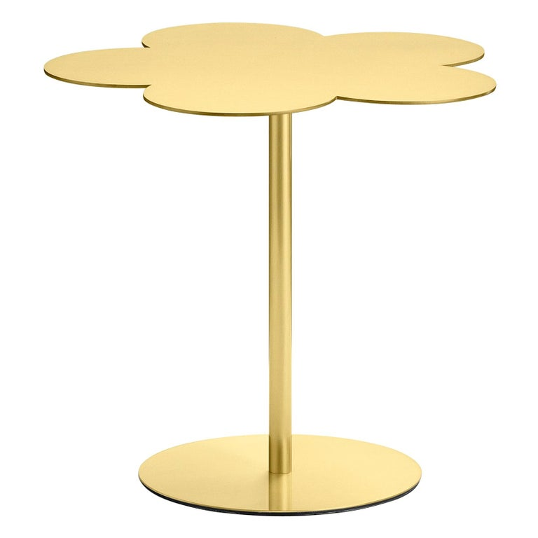 Ghidini 1961 Medium Flowers Coffee Side Table in Brass by Stefano Giovannoni For Sale