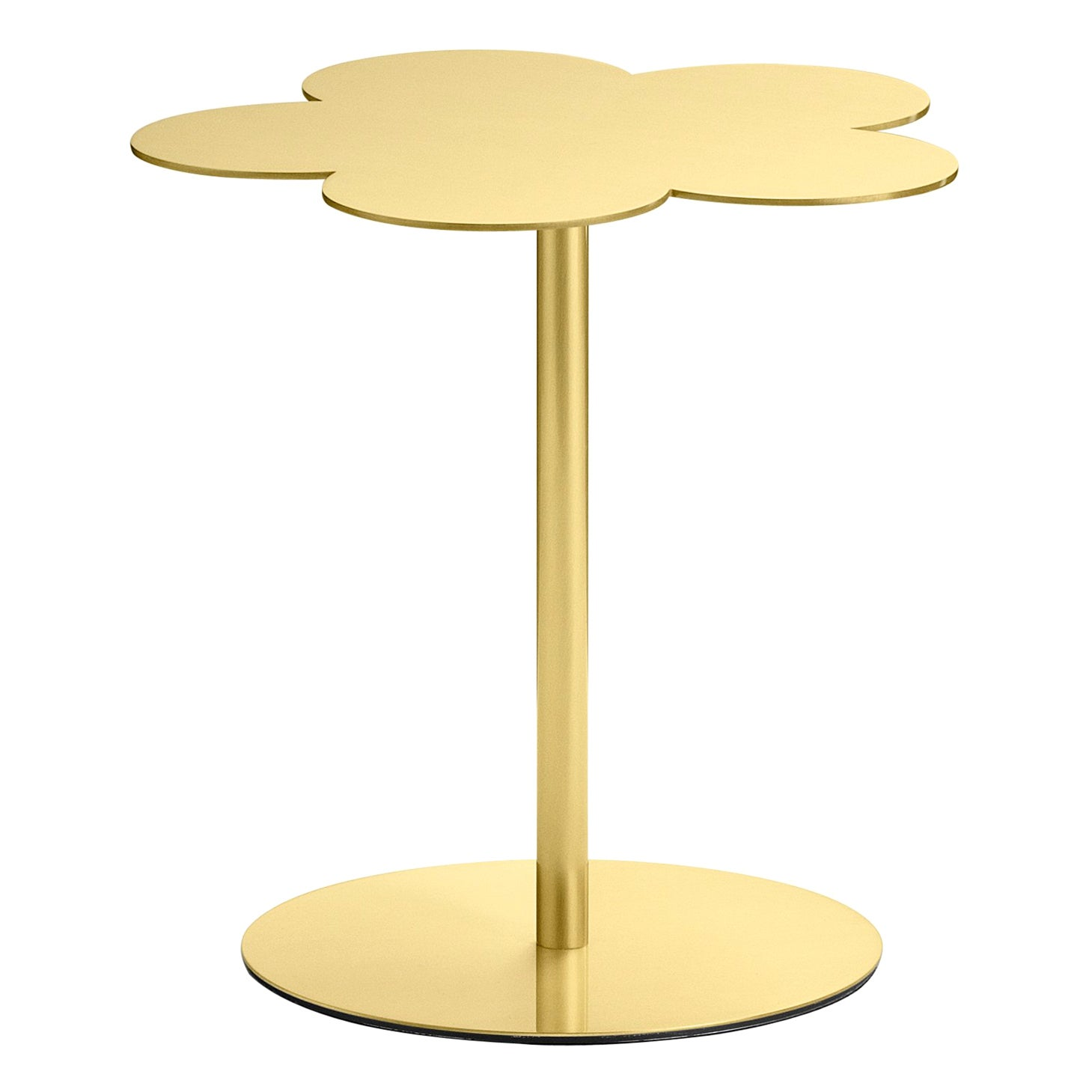 Ghidini 1961 Small Flowers Coffee Side Table in Brass by Stefano Giovannoni
