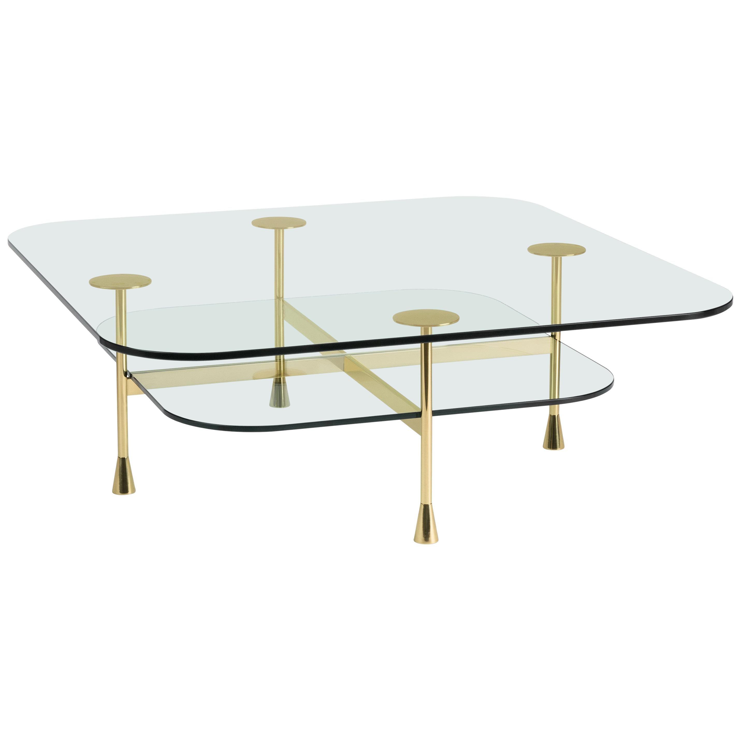 Ghidini 1961 Da Vinci Square Table in Crystal by Richard Hutten