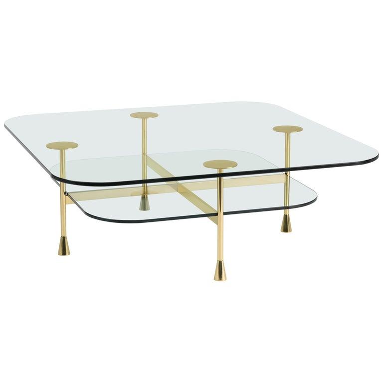 Ghidini 1961 Da Vinci Square Table in Crystal by Richard Hutten For Sale