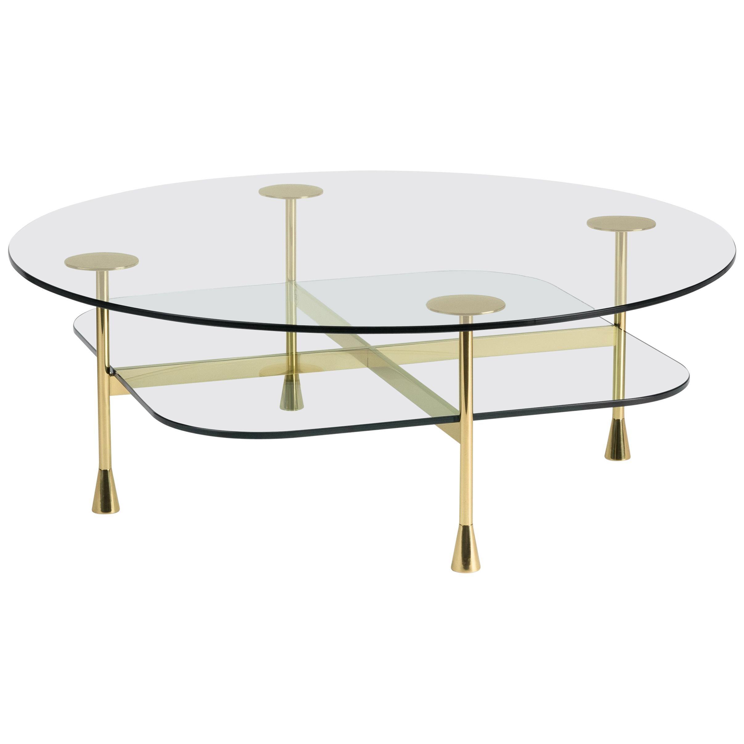 Ghidini 1961 Da Vinci Round Table in Crystal by Richard Hutten