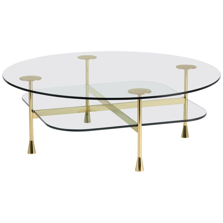 Ghidini 1961 Da Vinci Round Table in Crystal by Richard Hutten For Sale