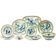 """Hermes """"Toucan"""" Porcelain Dinnerware Service 55 Pieces"""