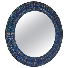 Bodil Eje Enameled Copper Wall Mirror, Denmark