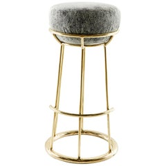 Brass Sculpted Stool, Misaya