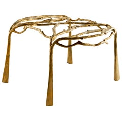 Brass Sculpted Coffee Table, Complexity, Misaya