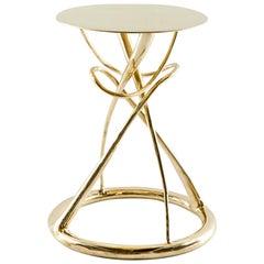 Brass Gueridon Table, Gordian Node, Misaya