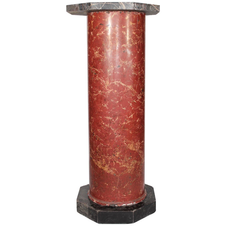 19th Century Italian Venetian Stucco and Marble Pedestal For Sale