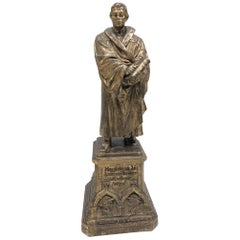 Martin Luther Protestant Reformation Statue 1930s Vintage, German