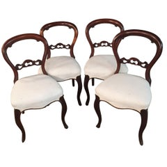 19th Century 4 Biedermeier Medallion Chairs, circa 1830
