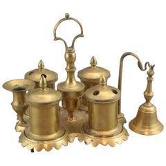 Bronze Desk Set or Writing Set, 19th Century