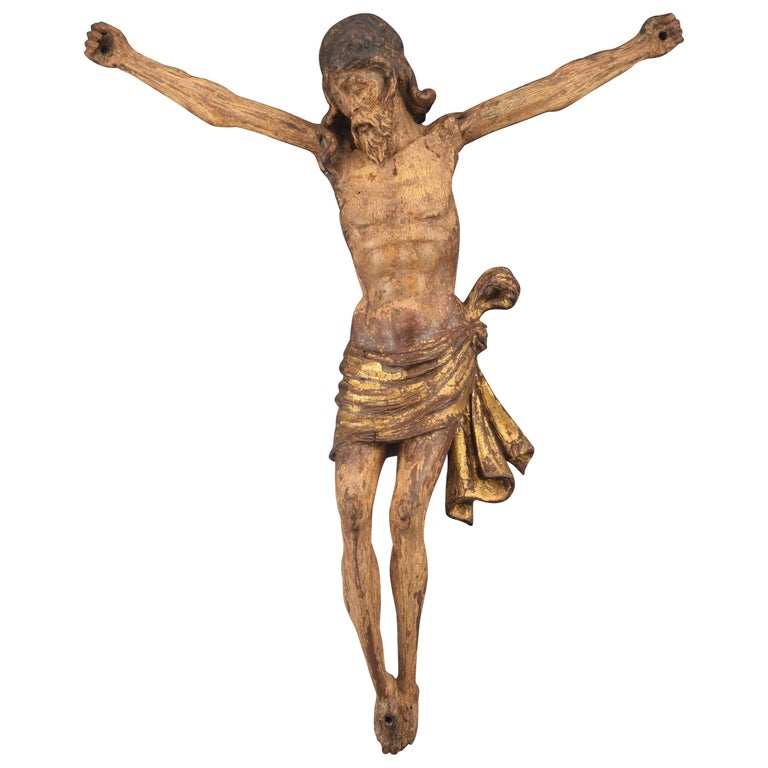 Christ, Polychromed and Giltwood, Castillian School, Spain, 16th Century For Sale