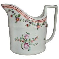 Georgian John Rose Coalport Milk Jug hand painted Porcelain, circa 1800