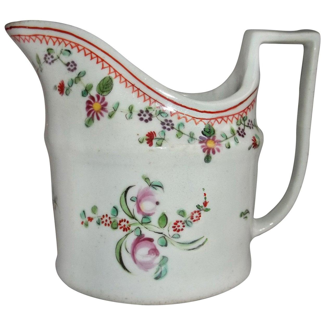 Georgian John Rose Coalport Milk Jug hand painted Porcelain, circa 1800