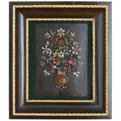 Italian Commesso Pietra Dura Panel with Floral Subject