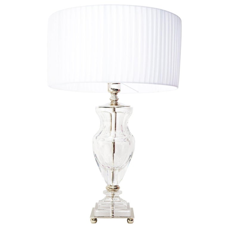46baa31ae54e Ugo Poggi Firenze Handcrafted Crystal Table Lamp Olmo For Sale at ...