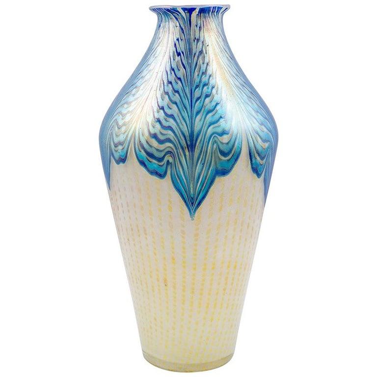 Large Vase Loetz Decor Phenomen Genre 2/187, circa 1902 For Sale