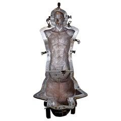 Life-Size Aluminum Industrial Brutalist Mannequin Torso Mold, Man