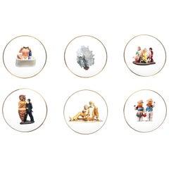 Set of Six Jeff Koons for Bernardaud Banality Series Porcelain Dessert Plates