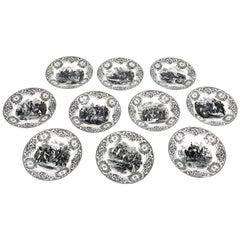 19th Century Boch Freres Napoleonic Plates, Set of 10