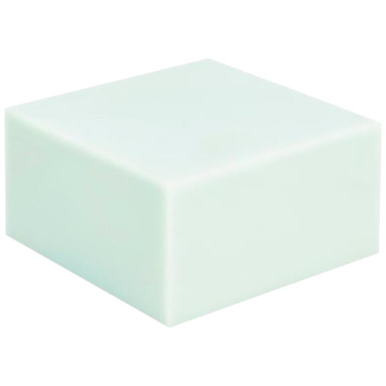 Sabine Marcelis Mint Candy Cube Contemporary Side Table or Bed Stand Gloss Resin